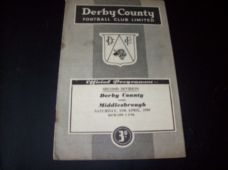 Derby County v Middlesbrough, 1958/59